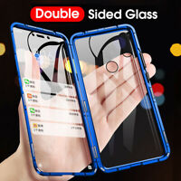 Metal Magnetic Clear Tempered Glass Case Cover For Redmi Note 7 Pro Xiaomi 9 K20