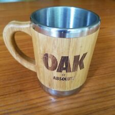 Absolut Vodka Oak Promotional Moscow Mule Mug Coffee Wood & Stainless