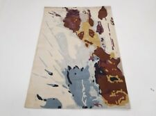 INDIAN HAND TUFTED, MODERN,ABSTRACT RUG, 2.40 x 1.50M, IVORY/CREAM & MULTICOLOUR