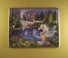 Dream Castles REMEMBER Plate #8 Mimi Jobe Fairies Fairy Unicorn MIB + COA Castle