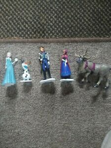 Small Disney Frozen Toy Figures. Olaf, Elsa, Anna +more. Immaculate.
