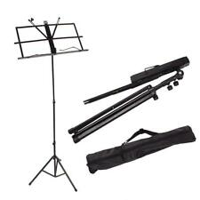 Us Adjustable Folding Music Stand with Bag Blac Exquisite design Handy Portable