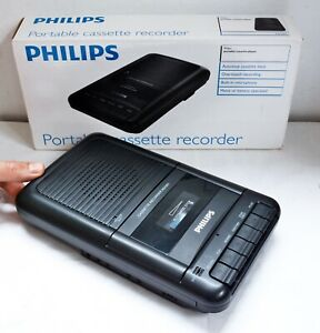 Philips Portable Cassette Recorder Model - AQ1001. With Original Box - Working