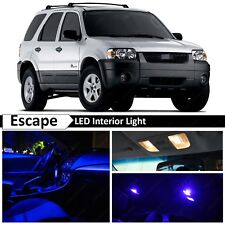 12x Blue Interior License Plate LED Light Package Kit for 2001-2006 Ford Escape