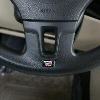 4Pcs Auto Lenkrad Aufkleber Emblem Abzeichen Logo Innenraum Passend für Cadillac