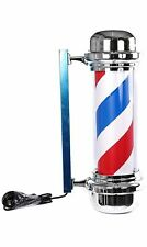 LED barber pole red white blue indoor outdoor silver black large lantern 70cm