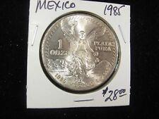 1985 MEXICO SILVER LIBERTAD ONZA UNCIRCULATED