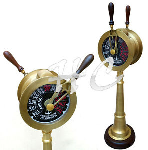 "37"" Antique Nautical Brass Ship Telegraph Vintage Marine Collectible Engine Room"