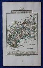Original antique county map GLOUCESTERSHIRE, John Cary, 1828