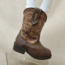 Cherokee Brown Studded Cowboy Western Boots Toddler Size 6 Style 17730