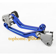 Fit Yamaha YZ250F YZ450F 2009-2018 Pivot Clutch Brake Levers Blue 2017 2016 15