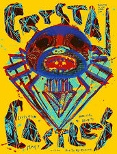 CRYSTAL CASTLES 2013 SILKSCREEN GIG POSTER 75 MADE! PRINTED ON YELLOW PAPER!