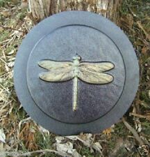 """Plastic dragonfly stepping stone mold 8"""" x 1.20"""" thick"""