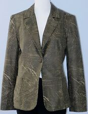JOSEPH RIBKOFF Vintage Size 10 Gray Fully-Lined Long Sleeve One Button Blazer