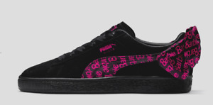 new PUMA x BARBIE NO DOLL Suede Classic Shoes Youth sz 4.5 black bow sneakers