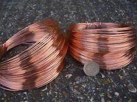 COPPER PLATED WIRE 1.2mm DIAMETER 16 GAUGE 27 meters - 250gram