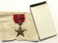 Original Wwii Slot Brooch Bronze Star Medal in Orig Box, From 1944 Dated Case