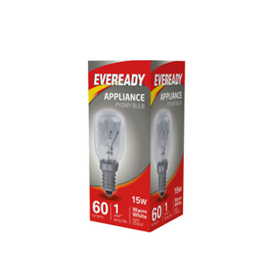 1 x Eveready 15w Refrigerator Fridge Freezer Appliance Pygmy SES E14 Screw Bulb