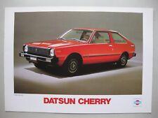 Datsun Nissan Cherry incl. Coupe brochure Prospekt text Dutch 12 pages 1979