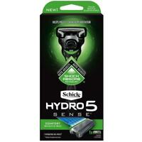 SCHICK HYDRO 5 SENSE COMFORT RAZOR KIT FOR SENSITIVE SKIN 7 HYDRATING GEL POOLS