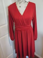 STUNNING Ladies Capture Red Coctail Evening Dress Size 12 Made in Australia