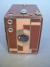 KODAK No.2 Beau Brownie Art Deco Tan Enamelled 120 Roll Film Camera 1930s