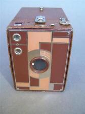 KODAK No.2 Beau Brownie Art Deco Tan Enamelled 120 Roll Film Camera 1930s