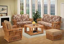 President Rattan 5 Piece Living Room Furniture Sofa Set (Fully Assembled)