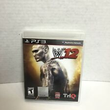 WWE 12 PS3 Sony PlayStation 3 (2011) Wrestling Video Game