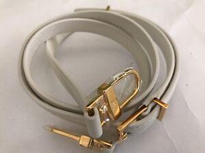 Tom Ford White Calf Skin Leather Gold Hardware India Handbag Shoulder Strap