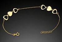 ECHT GOLD *** Feines Herz Armband Armkette 17-19 cm