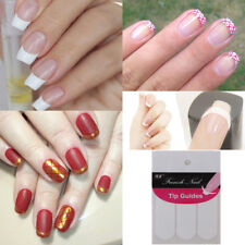 10 Sheets French Nail Art Tips Guide Strip Sticker Nail Decal Manicure Stencil
