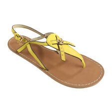 NIB Coach Camara Semi Matte Calf Sandals Yellow Size 8