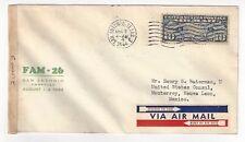 1944 San Antonio TX Censored Airmail American Consulate Monterrey Mexico, FAM26