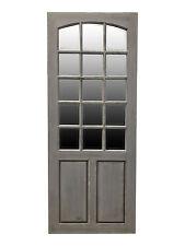 Grey Free Standing Door Leaner Mirror Bevelled Glass Full Length Distressed