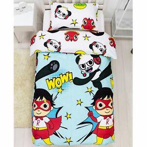 Ryan's World Single Duvet Cover Set Jump Design Reversible Bedding Kids
