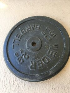"""Weider Barbell 50 Lb Weight Plate 1"""" Standard - Single 50lb Collectible Piece"""