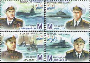 2018 Belarus Admirals of the Navy Born in Belarus MNH