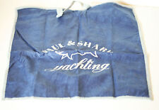 New Paul & Shark Yachting Blue Clear Plastic Zip Bag FS