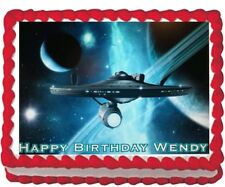Star Trek Party Edible Cake Topper Image Decoration Frosting Sheet