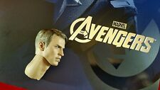 Genuine Hot Toys MMS174 1/6 Scale Avengers Captain America Steve Roger's Head