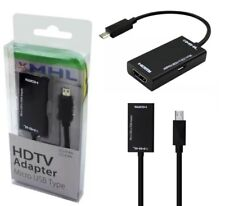 MHL 2.0 Micro USB to HDMI 11 pin Adapter for Galaxy S5, S4, S3,Note 2,3,4,1080P