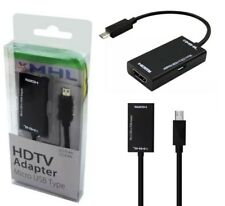 2.0 MHL Micro USB a HDMI 11 Pin Adaptador para Galaxy S5, S4, S3, Note 2,3,4,1080P