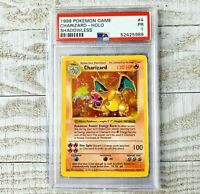 PSA 1 Shadowless CHARIZARD 4/102 Base Set Holo Rare Pokemon Card
