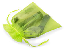 "Lot 10 Citrus Green Organza Gift Wrap Bags 10x12"" Bath Body Christmas Holiday"