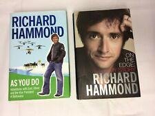 x2 Books Richard Hammond - On The Edge My Story - As You Do - Good Conditon