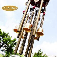 Windspiel 10 Klangröhren Klangspiel Natur Windharfe Haus Garten Deko 83CM DHL