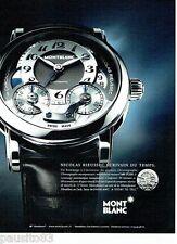 PUBLICITE ADVERTISING 116  2011  Montre MB R 200  par Mont Blanc