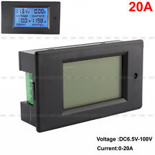 NEW DC 6.5-100V 20A LCD Digital Combo Panel Meter Voltage Current KWh Watt AM