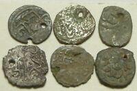 Lot rare genuine Islamic silver billon fouree brockage akce coins Ottoman Empire